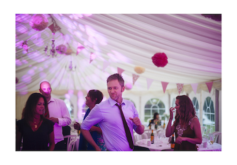 Actor James Redmond dancing at wedding